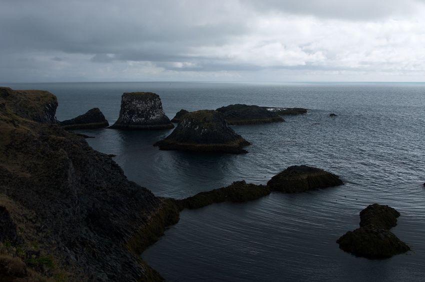 Cliff Coastline Iceland Sea