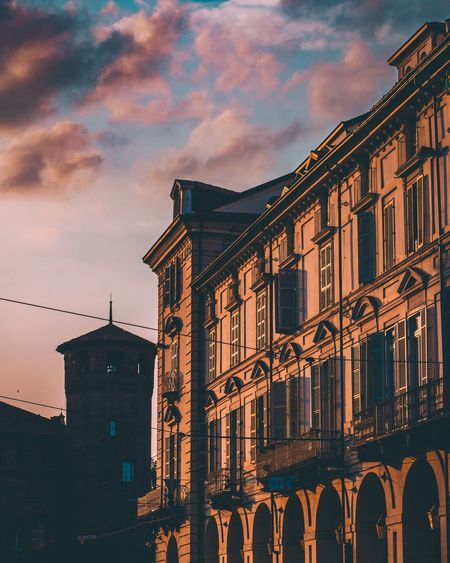 Way home 🏠 Italy Italia Building Exterior Built Structure Architecture Sky City Cloud - Sky Nature No People Building Sunset Dusk Travel Destinations City Life Illuminated Street Window Travel Outdoors