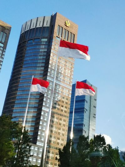 berkibarlah merah putihku! Flags Building Sampoernastrategicsquare MERAH PUTIH INDONESIA MERAH PUTIH INDONESIA Bendera Bendera Merah Putih Independence Independence Day Dirgahayu Dirgahayuindonesiaku Politics And Government City Patriotism Skyscraper Tree Flag Modern Architecture