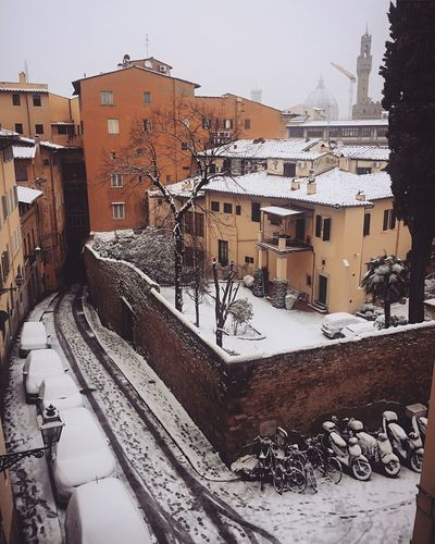 Firenze Snowday Florence Italy Florence Italy Florence Architecture Winter Building Exterior Snow Built Structure Cold Temperature No People Outdoors Day