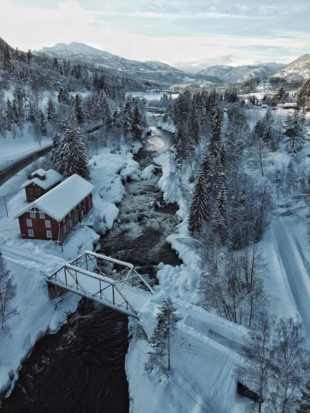 Winter in Norway Bridge River Norway Snow Winter Cold Temperature Nature Landscape Mountain Frozen No People Outdoors Beauty In Nature Day
