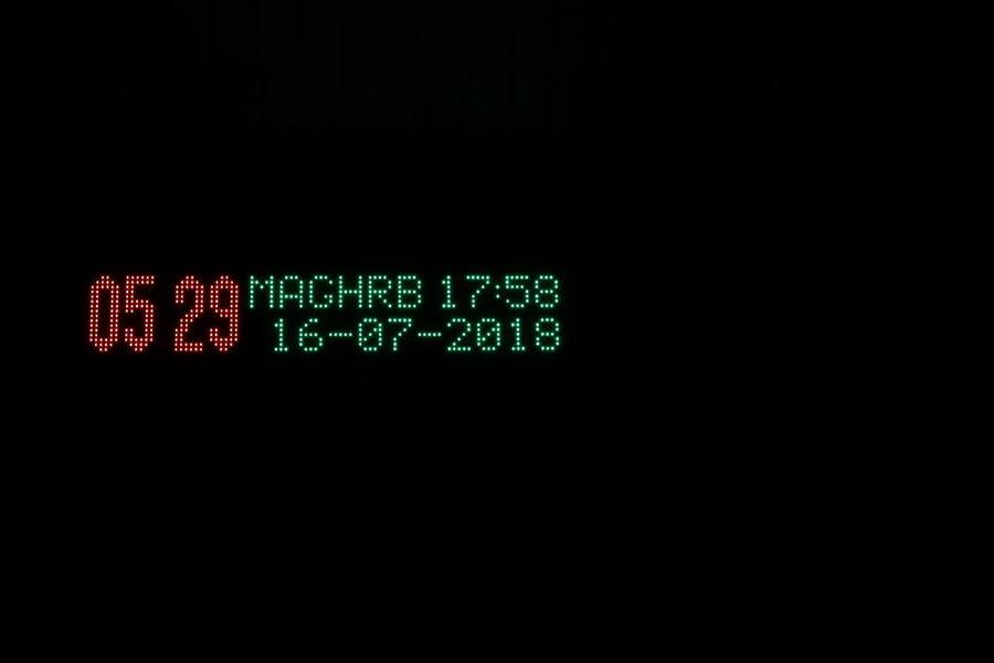 jangan lupa dengan waktu... Canon Masjid darkness and light Black Background Technology Neon Communication Studio Shot Digital Display Copy Space Sport Close-up Digital Clock LED Device Screen Digital Viewfinder Information Darkroom Graphical User Interface Alarm Clock