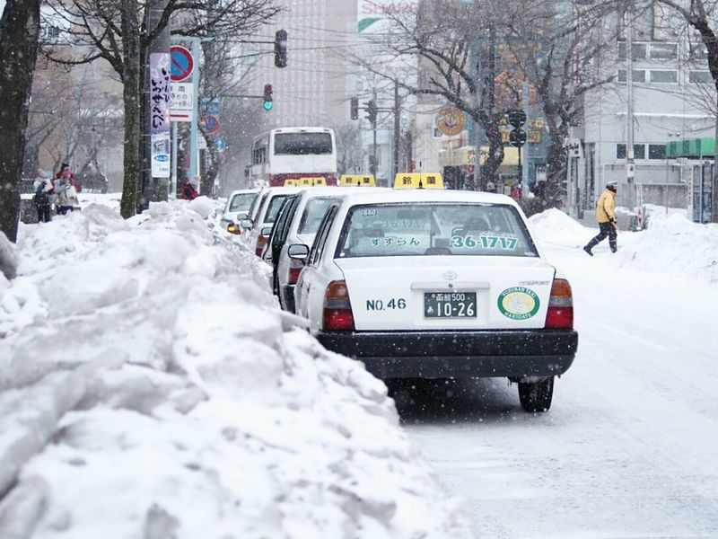 Winter Snow Taxi Japanese Winter Japanese Taxi City Street Snowday EyeEm EyeEm Best Shots Eyeemphotography Ee_daily Trip City Japan Photography White Photgraphy Culture Of Japan Car