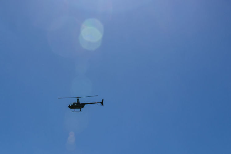 a helicopter in