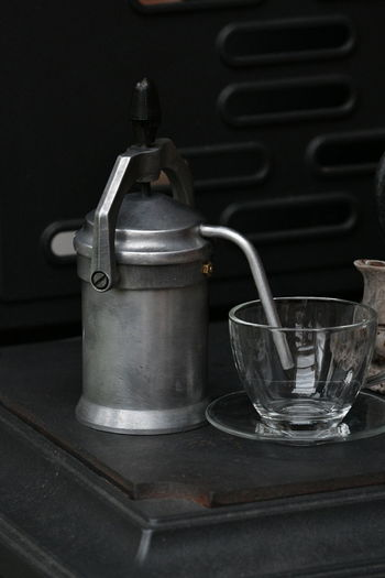 Indoors  Retro Styled Food And Drink Drink No People Food Old-fashioned Drinking Glass Aluminum Close-up Freshness Day Kaffeerösterei Kaffee Trinken Kaffeemühle Kaffeekultur Kaffeebohnen Kaffeepause Kaffeezeit Kaffee