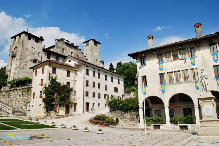 Downtown of Feltre, Belluno, Veneto, Italy. Belluno City Cityscape European  Feltre Italia Square TOWNSCAPE Travel Architecture Building Building Exterior Built Structure Cloud - Sky Europe Italian Italy Old Outdoors Residential District The Past Tourism Town Urban Veneto