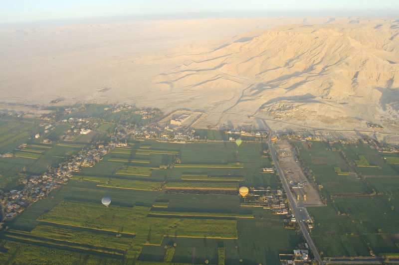 Valley of the Kings Egypt Field Luxor Hot Air Balloon Plantation Sugar Cane Sugarcane Valley Of The Kings