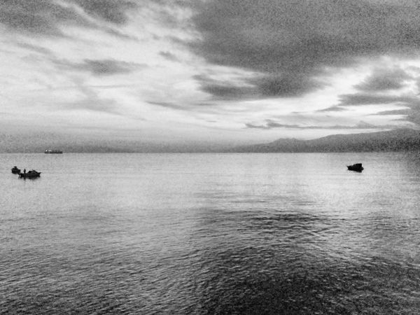 Kantrida Outdoor Photography Sunset Rijeka.Croatia❤⛵ Rijeka Sea Reflection Boat Reflection_collection Boat Reflections In The Water Boats⛵️ Boats And Sea Black And White Photography Blackandwhite Photography Black And White Black & White