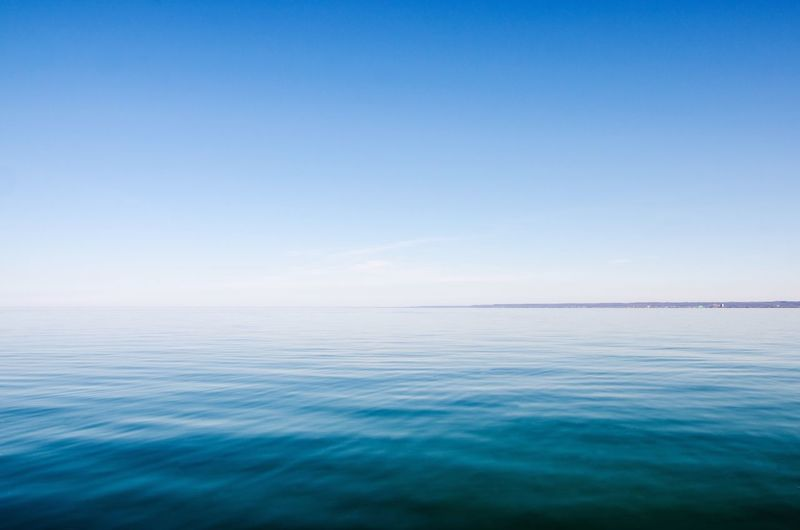 Lake Ontario from the Burlington waterfront Sea Blue Water Beauty In Nature Nature Copy Space Tranquil Scene Horizon Over Water Idyllic Sky Clear Sky Tranquility Waterfront Great Lakes Ocean Ocean View Ontario Lake No People Burlington Peaceful Outdoors Ripples Rippled Miles Away