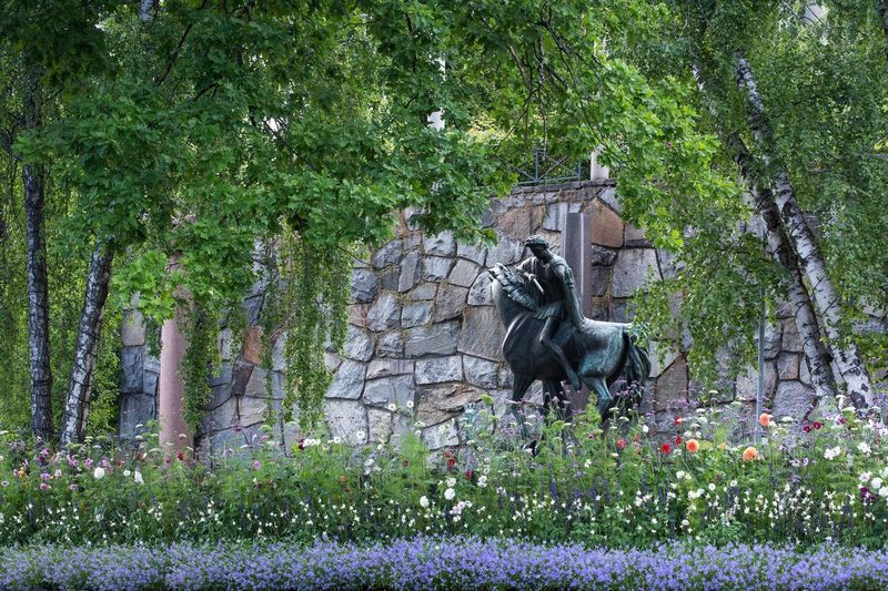 The St Martin fountain by Carl Milles at Millesgården. Photo: Yanan Li Art Sculpture Stockholm Carlmilles Museum Garden Sweden Yananli