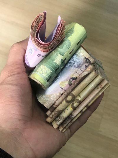 Human Hand Hand Human Body Part One Person Holding Indoors  Paper Currency Close-up Business Finance And Industry Finance Real People Personal Perspective Wealth High Angle View Business Luxury Currency Body Part Wallet Finger