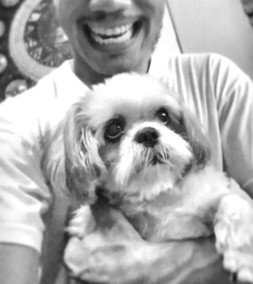 Lovemelovemydog Happiness Friendship Mylivingcompanion Shihtzu Pets Embracing Love Blackandwhite