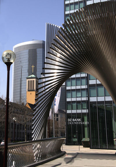 Frankfurt M. Architecture Art Art In Construction Art Object Building Exterior Built Structure Business Building City Germany Kunst Am Bau Modern Nature No People Office Building Exterior Outdoors Sky