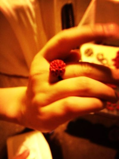 The flower ring we bought together.