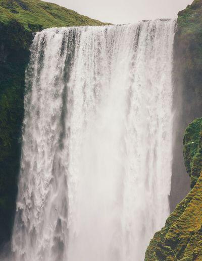 Skogafoss Motion Waterfall Water Scenics - Nature Beauty In Nature Long Exposure Flowing Water Power In Nature Splashing Nature Outdoors Falling Water