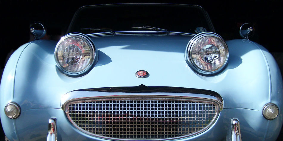 1960's Austin Healey Blue Close-up Day Frog Eyed Sprite Headlight Land Vehicle Mode Of Transport No People Outdoors Parking Part Of Sprite Transportation Vehicle Vehicle Part Vintage Car Sports Car Vintage Sports Car Nostalgia The OO Mission