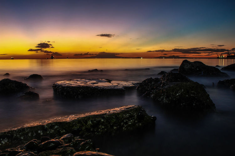 Foreground Sky Water Sea Environment Sunset Land Beach Cloud - Sky Landscape Night Nature Beauty In Nature Seascape Scenics - Nature