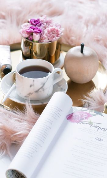 Love yourself, Rosie Indoors  Still Life No People Close-up Table Flower Sweet Food Flowering Plant High Angle View Food And Drink Healthcare And Medicine Food Textile Nature Pink Color White Color Sweet Freshness Plant Make-up