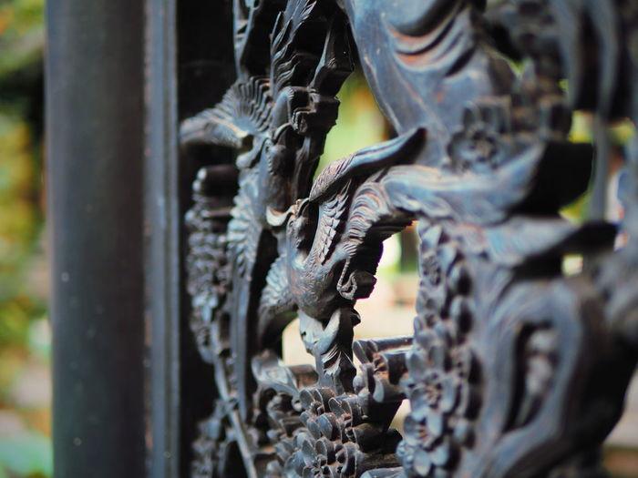 Close-Up Of Metal Statue