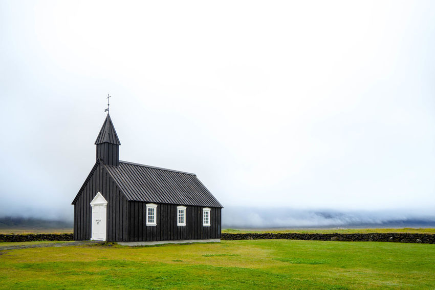 Iceland Islanda Iceland Memories Iceland_collection Icelandic West Fjords West Iceland Church Black Church Búðir Budir Black Church Building Landscape Architecture Grass