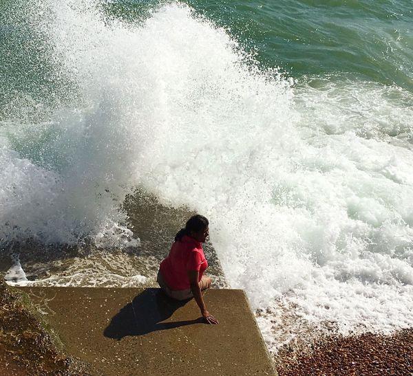 Finding New Frontiers Sea Spray Brighton Ocean Beach Summer Pink Water Long Goodbye