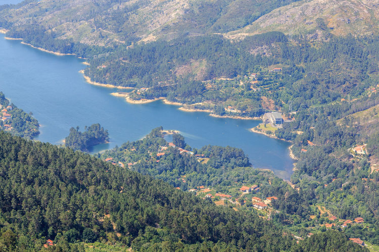 Gerês Portugal Caniçada Beauty In Nature Scenics - Nature Tree Water Plant Tranquil Scene Tranquility High Angle View Mountain Nature Day Land Green Color No People Environment Non-urban Scene Idyllic Forest Growth Outdoors View Into Land