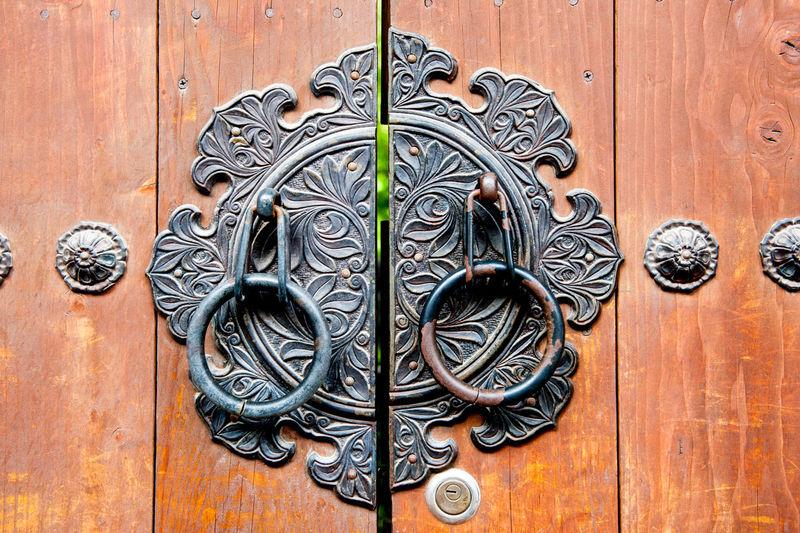 Knockers On Wooden Door