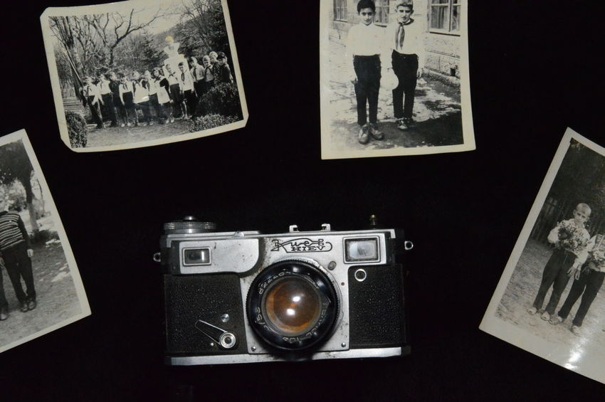 Lieblingsteil Retro Kiev Camera Photo Old Camera Black And White