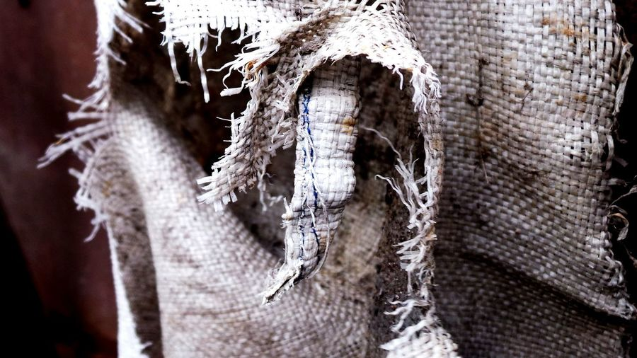Burlap Burlap Sack Burlap Texture Close-up Hanging No People Outdoors Backgrounds Full Frame Pattern Textured  Distressed Macro Beauty Macro_collection Macro Photography Weathered Abstract Photography Textures And Surfaces
