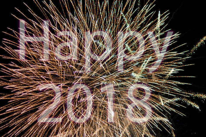 Happy 2018 with fireworks Bright Bright Colors Explosion Fireworks Celebration Explosive Firework Display Happy 2018 Happy New Year Happy New Year 2018 Illuminated Night No People Outdoors