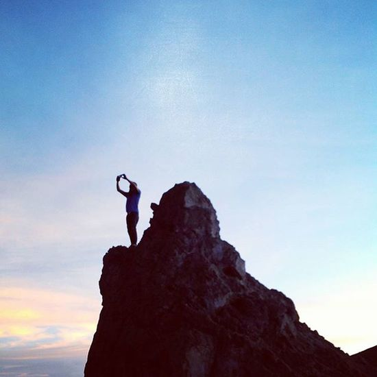 The sky is the limit!!! Goodmorning INDONESIA Sunrise Mountain Merapi Volcanoes Hiking Climb Adventure People Pendaki Gunung Summit Emotion Adventure Trip Masl Mdpl