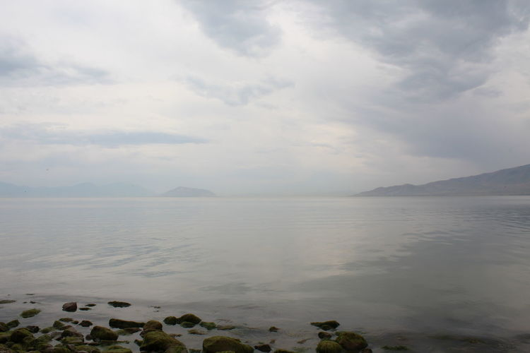 Cloudy Cloudy Day Cloudy Skies Beauty In Nature Cloud - Sky Day Foggy Foggy Landscape Horizon Idyllic Nature Outdoors Scenics - Nature Sky Tranquil Scene Tranquility Utah Lake Water