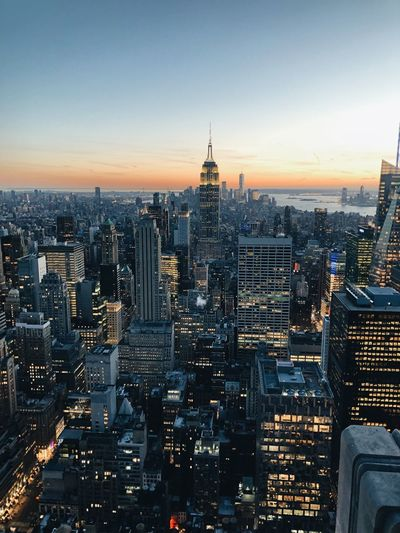 New York City #empirestatebuilding #NewYork  Building Exterior Architecture Sky City Cityscape Built Structure Building Skyscraper Sunset Urban Skyline Tower
