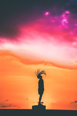 Sunset Silhouette Orange Color Sky Tranquil Scene Outdoors Beauty In Nature The Week On EyeEm