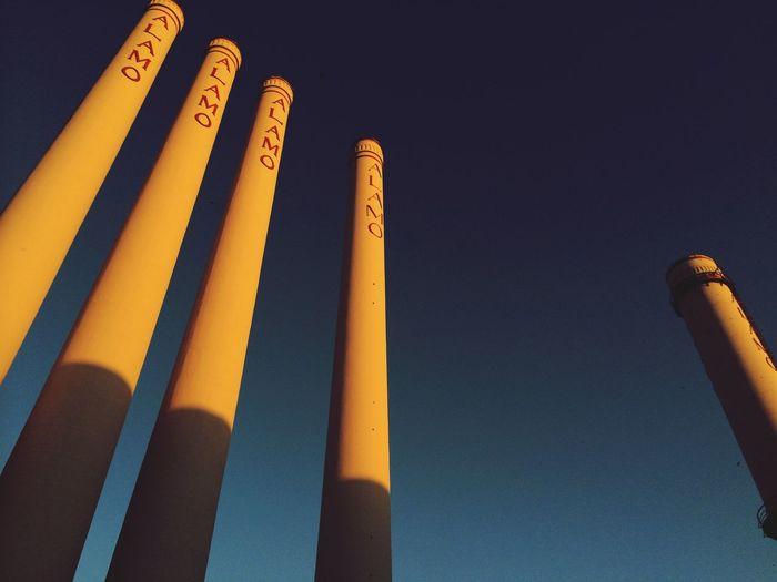 Smoke Stacks Hello World Alamo Quarry Quarry Sky Blue Sky Clear Sky Tall Texas Check This Out