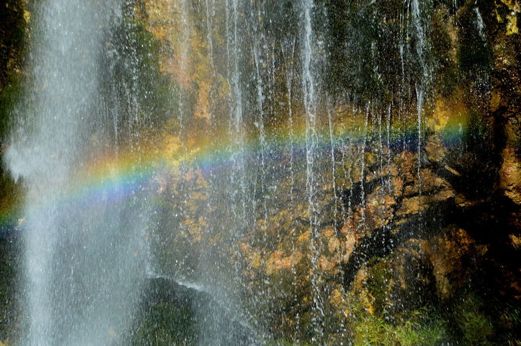 Albania Theth Beauty In Nature Close-up Day Motion Multi Colored Nature No People Outdoors Rainbow Refraction Scenics Spectrum Tree Water Waterfall