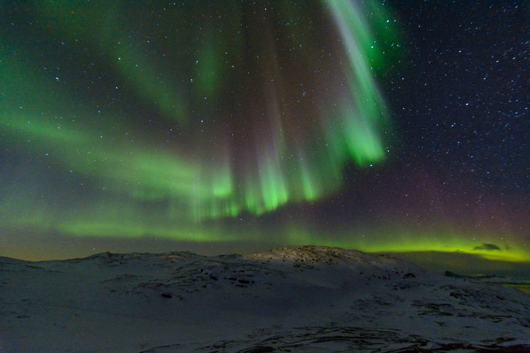 Aurora Borealis Greenland Grönland Ilulissat Northern Lights Schnee Arctic Cold Temperature Nordlicht Snow