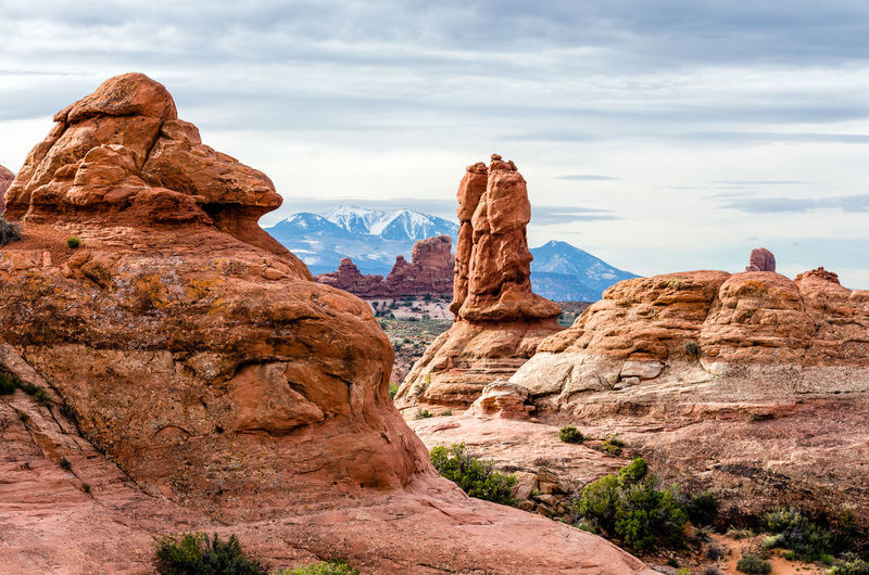 Arches National Park, Utah Beauty In Nature Canyon Cloud - Sky Day Geology Landscape Natural Arch Nature No People Outdoors Representing Rock - Object Rock Formation Sand Scenics Sky Travel Travel Destinations