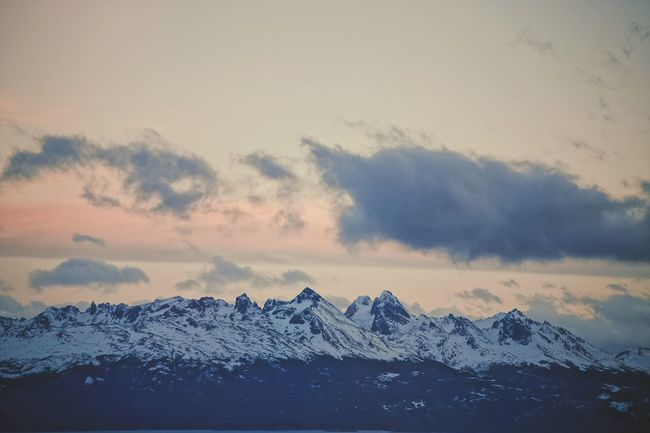 Beauty In Nature Cloud - Sky Cold Temperature Day Frozen Landscape Mountain Mountain Range Nature No People Outdoors Scenics Sky Snow Snowcapped Mountain Sunset Tranquil Scene Tranquility Weather Winter