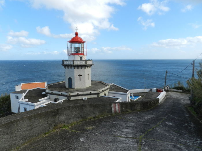 Nearby Nordeste @ Azores (S. Miguel) Azores Azores Islands Nordeste  Portugal Architecture Azores, S. Miguel Beauty In Nature Building Exterior Built Structure Cloud - Sky Day Guidance Horizon Over Water Lighthouse Nature No People Outdoors Scenics Sea Sky Tranquility Water