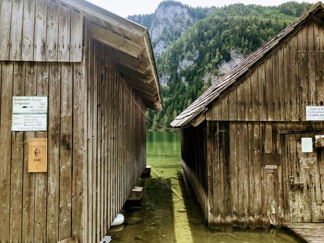 Boathouses Boathouse Lake Architecture Built Structure Direction Building Building Exterior The Way Forward Day Old House Wood - Material Nature