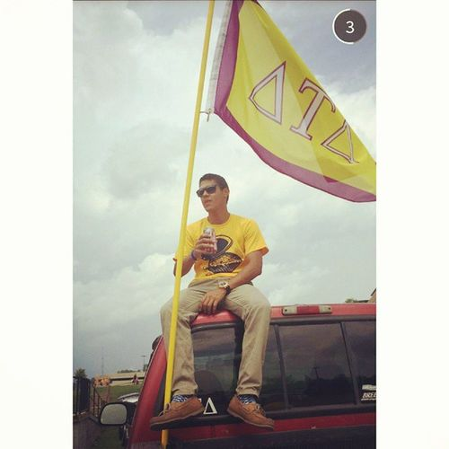 Raise it high with pride RushDelt Dtd GoGreek2014 ΔΤΔ wvu
