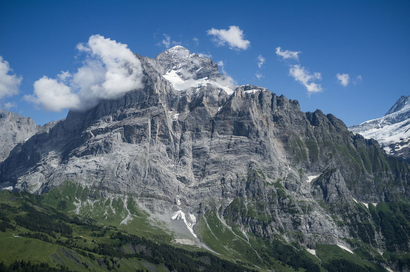 just the eiger Adventure Alps Bern Berner Oberland Bernese Oberland Crag Eiger Eiger Moench Jungfrau First Grindelwald Hike Impressive Mountain Mountain Range Mountains Nature Outdoors Peak Rock Scheidegg Snow Summer Switzerland Tourism Wanderlust
