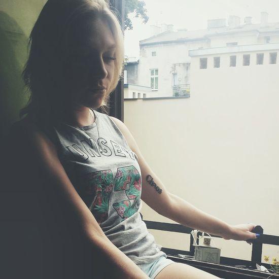 Tattoo Girl Window