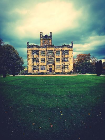 The Downton Of The North Burnley Gawthorpe Hall Downton Abbey Downton Charles Barry Architectural Feature Architects Elizabethan Architecture EyeEmNewHere History Sky Architecture Grass Building Exterior Built Structure Cloud - Sky Architectural Design Architecture And Art Detached House