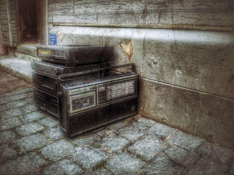 Love Music  Radio Retro Displaced Outdoors Oddlook✋ Grundig Heartshape