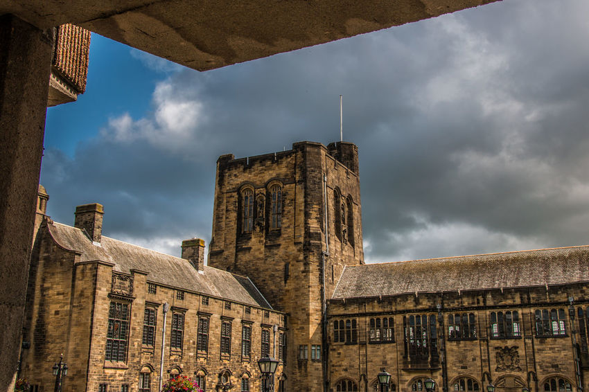 Architecture Building Exterior Built Structure Cloud - Sky History Sky The Past Travel Destinations Building Nature Day Old City No People Low Angle View Window Ancient Travel Outdoors Architectural Column Bangor University