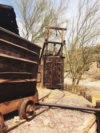 Mine Day Outdoors Sunlight No People Transportation Built Structure Sky