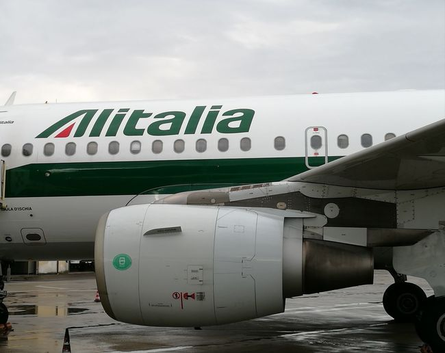 Airbus A319 Alitalia Florence Airport Clouds And Sky Commercial Airplane Airplane Politics And Government Air Vehicle Airport Sky Plane Boarding Airport Runway Fly Taking Off Landing - Touching Down Aircraft Wing