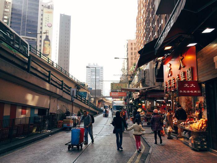 Saturday morning near the Bowrington Road markets, Causeway Bay, Hong Kong. Travel ProCamera 8 Hong Kong